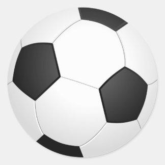 graphic soccer ball classic round sticker