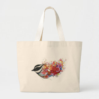 Graphic Sparrow Large Tote Bag