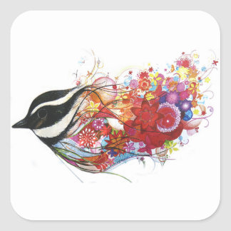 Graphic Sparrow Square Sticker