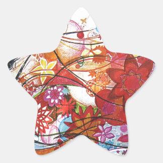Graphic Sparrow Star Sticker