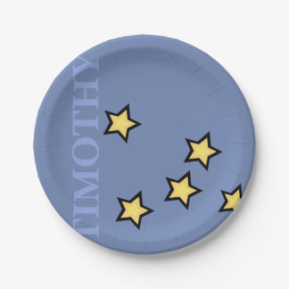 GRAPHIC STARS PERSONALIZED CUSTOM PAPER PLATE