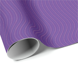 Graphic Stripes | Purple Wrapping Paper