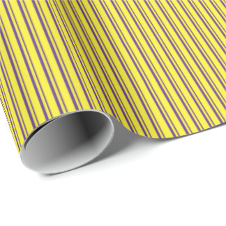 Graphic Stripes | Yellow & Purple Wrapping Paper