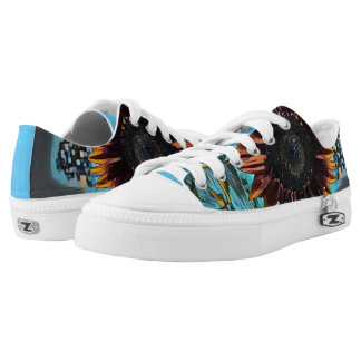 Graphic Sunflower Low-Top Sneakers