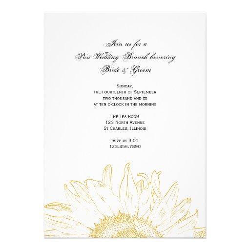 Graphic Sunflower Post Wedding Brunch Invitation