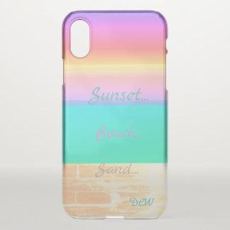 Graphic Sunset Beach iPhone X Case