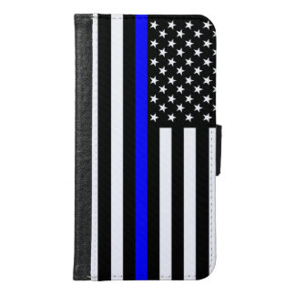 Graphic Thin Blue Line Display US Flag