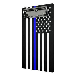 Graphic Thin Blue Line Display US Flag Mini Clipboard