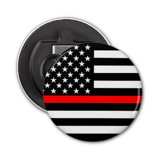 Graphic Thin Red Line Display US Flag Bottle Opener