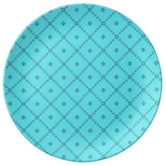 Graphic Tile Design blue Plate