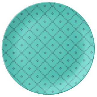 Graphic Tile Design green Plate