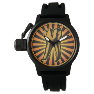 Graphic Tooth Emblem Watch