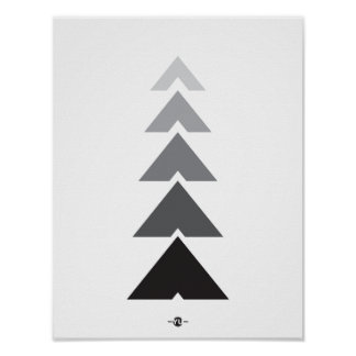 GRAPHIC TRIANGLE ART POSTER