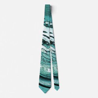 Graphic Turquoise Waves Tie