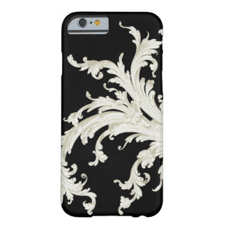 Graphic Vintage Flourish Black and White Barely There iPhone 6 Case