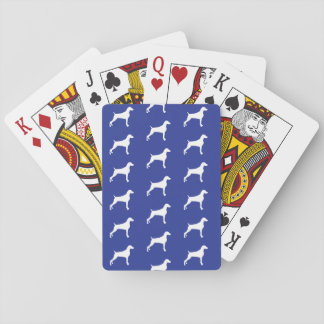 GRAPHIC WEIMARANER SILHOUETTE WHITE PLAYING CARDS