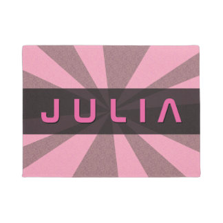 Graphical Rays Customizable any Colour any Name Doormat