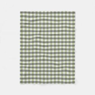 Graphical Tiled Green and Grey Fleece Blanket