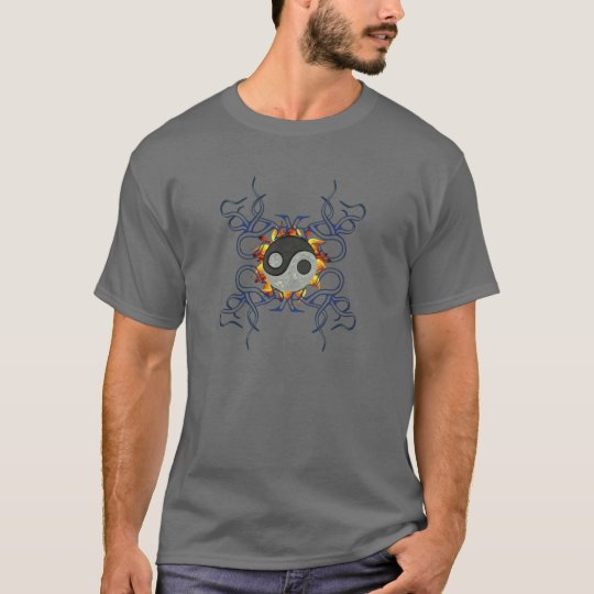 Graphical Ying Yang T-Shirt