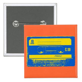 Graphique d enregistreur à cassettes d art de brui badges