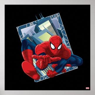 Graphique de caractère de ville de Spider-Man