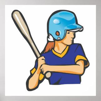 graphique de joueur de baseball du base-ball de fi