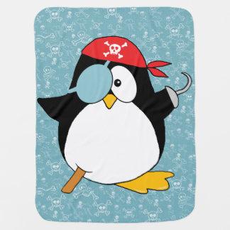 Graphique de pingouin de pirate couvertures de bébé