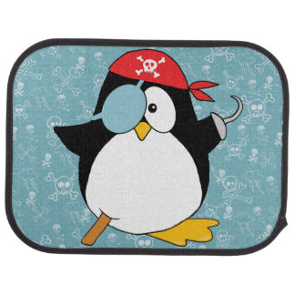 Graphique de pingouin de pirate tapis de sol