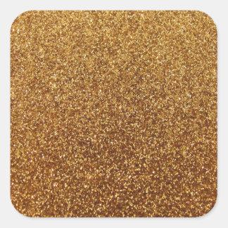 Graphique de scintillement d'or de Faux Stickers Carrés