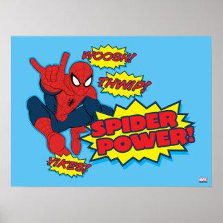 Graphique de Spider-Man de puissance d'araignée Poster