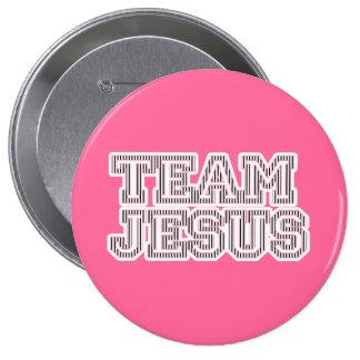 Graphique rayé de Jésus d équipe Badge Avec Épingle