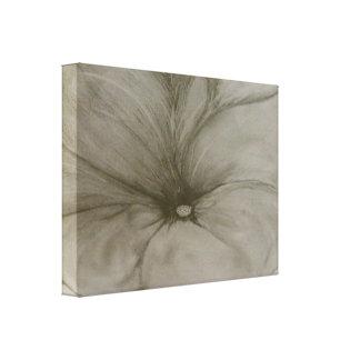 """Graphite Flower"" Canvas Print"