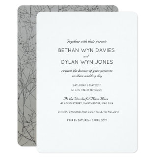 Graphite 'Tree' Wedding Invitation