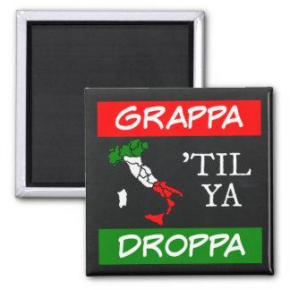 Grappa Til Ya Droppa Italy Flag Map Magnet