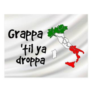 Grappa Til Ya Droppa Italy Map Postcard