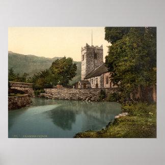 Grasmere Church, Lake District, Cumbria, England Poster