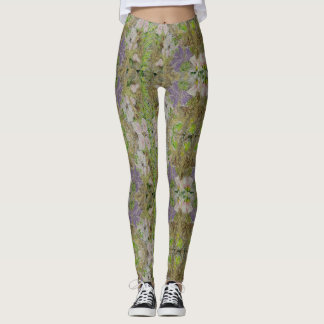 Grass and Flower leggings