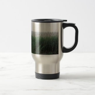 Grass and Reeds Blowing in the Wind by the Bay Travel Mug