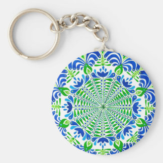Grass and sky basic round button keychain