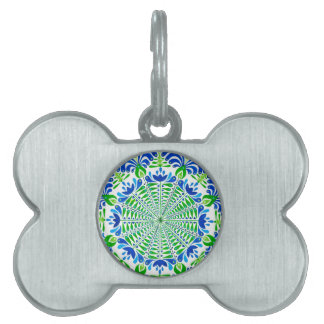 Grass and sky pet ID tags