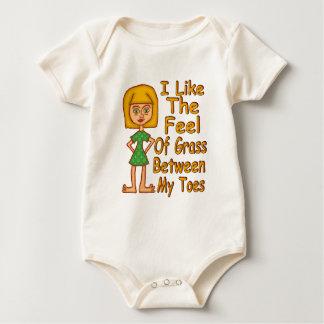 Grass Between My Toes Baby Bodysuit