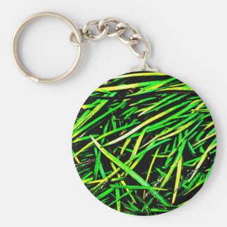 Grass Blades Nature Abstract Shapes Fashion style Basic Round Button Keychain