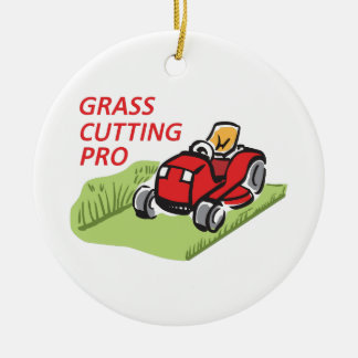 GRASS CUTTING PRO CERAMIC ORNAMENT