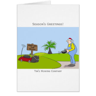 Grass Cutting Service Customizable Christmas Card