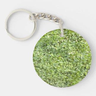 Grass Double-Sided Round Acrylic Keychain