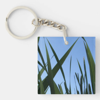 Grass Double-Sided Square Acrylic Keychain