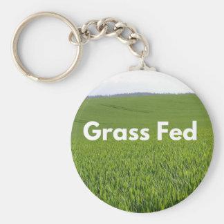 Grass Fed Basic Round Button Keychain