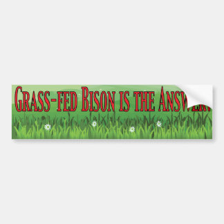 Grass-fed Bison Bumper Sticker