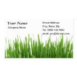 Grass gardening business card