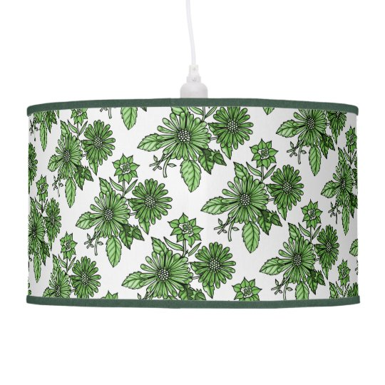 Grass-Green Floral Bouquet Hanging Pendant Lamps